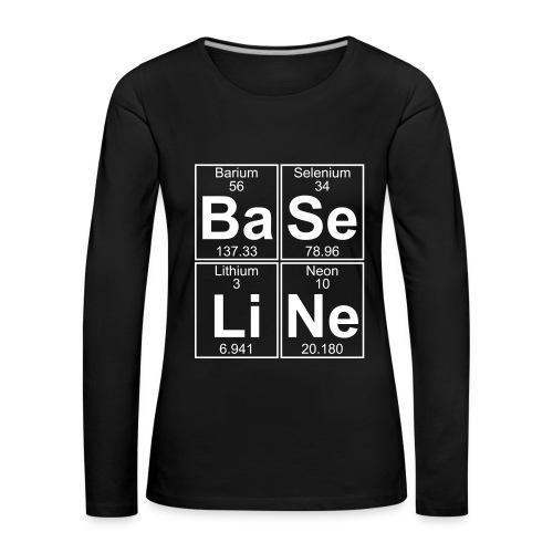 Ba-Se-Li-Ne (baseline) - Women's Premium Longsleeve Shirt