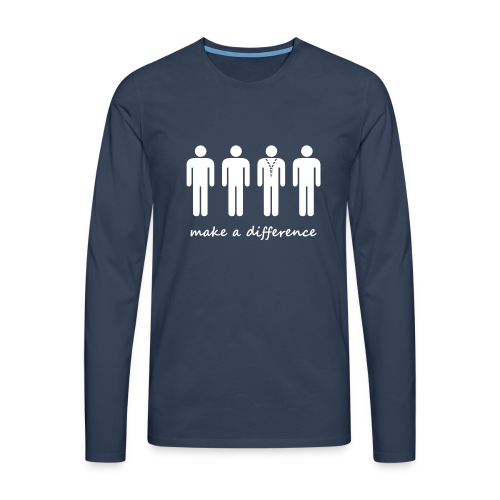 Scouts - make a difference - Men's Premium Longsleeve Shirt