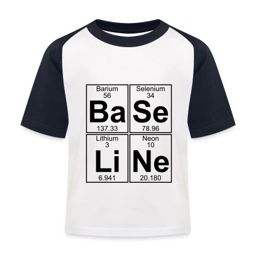 Ba-Se-Li-Ne (baseline) - Kids' Baseball T-Shirt