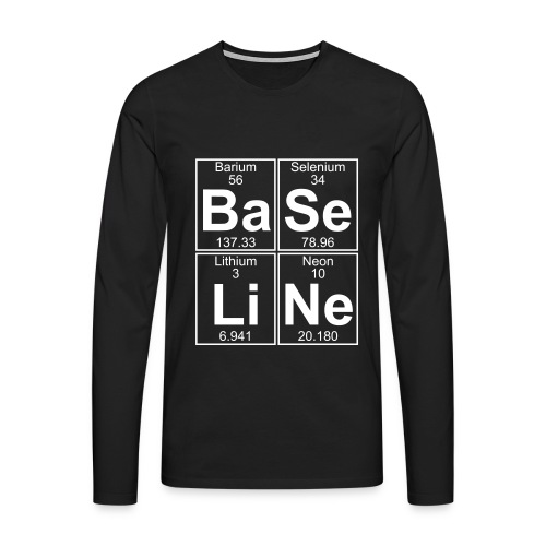 Ba-Se-Li-Ne (baseline) - Men's Premium Longsleeve Shirt