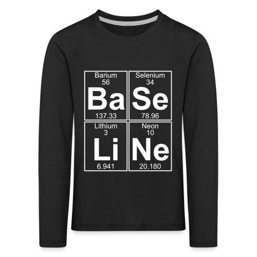 Ba-Se-Li-Ne (baseline) - Kids' Premium Longsleeve Shirt