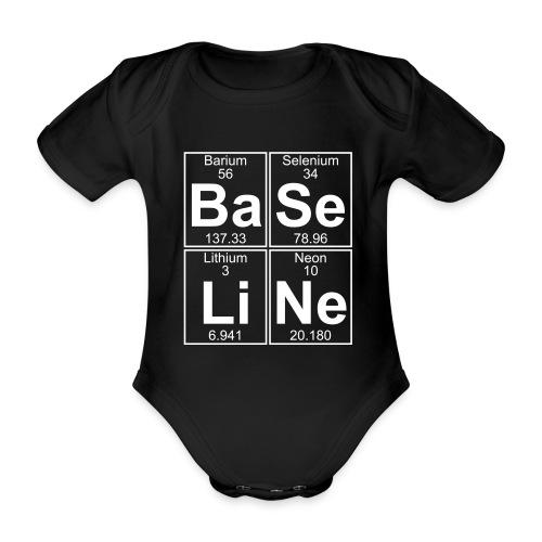 Ba-Se-Li-Ne (baseline) - Organic Short-sleeved Baby Bodysuit