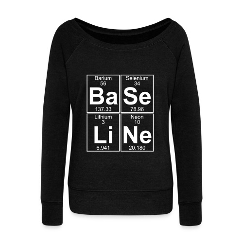 Ba-Se-Li-Ne (baseline) - Women's Boat Neck Long Sleeve Top