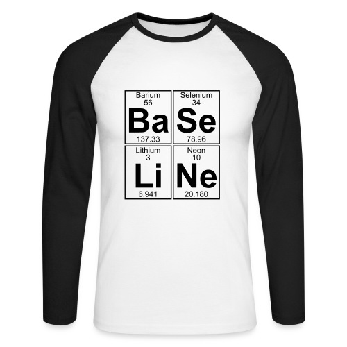 Ba-Se-Li-Ne (baseline) - Men's Long Sleeve Baseball T-Shirt