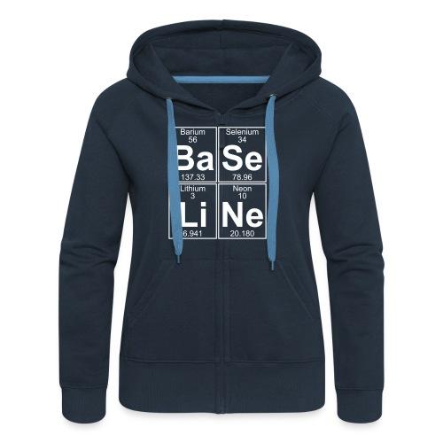 Ba-Se-Li-Ne (baseline) - Women's Premium Hooded Jacket