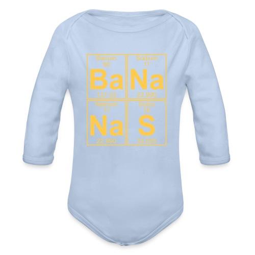 Ba-Na-Na-S (bananas) - Organic Longsleeve Baby Bodysuit