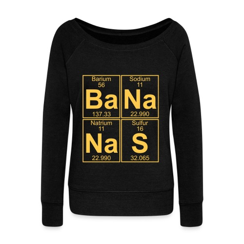 Ba-Na-Na-S (bananas) - Women's Boat Neck Long Sleeve Top