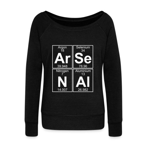 Ar-Se-N-Al () - Women's Boat Neck Long Sleeve Top