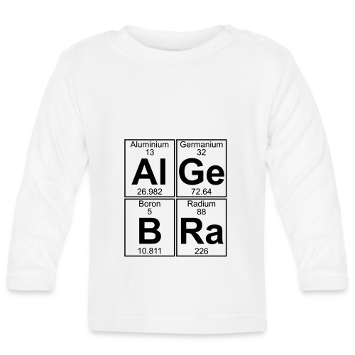 Al-Ge-B-Ra (algebra) - Baby Long Sleeve T-Shirt