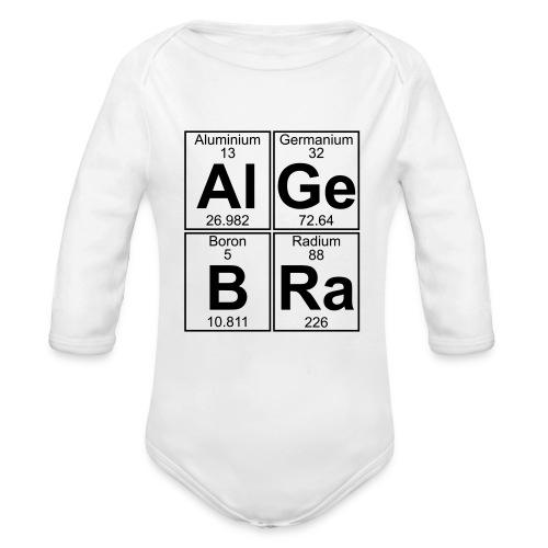 Al-Ge-B-Ra (algebra) - Organic Longsleeve Baby Bodysuit