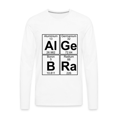 Al-Ge-B-Ra (algebra) - Men's Premium Longsleeve Shirt