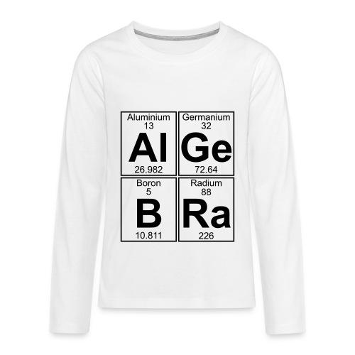 Al-Ge-B-Ra (algebra) - Teenagers' Premium Longsleeve Shirt