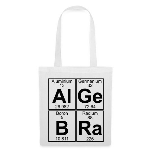 Al-Ge-B-Ra (algebra) - Tote Bag