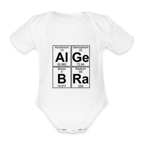 Al-Ge-B-Ra (algebra) - Organic Short-sleeved Baby Bodysuit