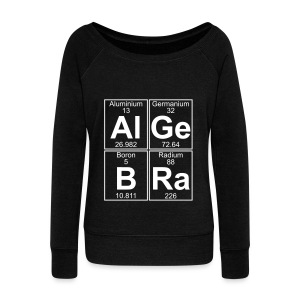 Al-Ge-B-Ra (algebra) - Women's Boat Neck Long Sleeve Top
