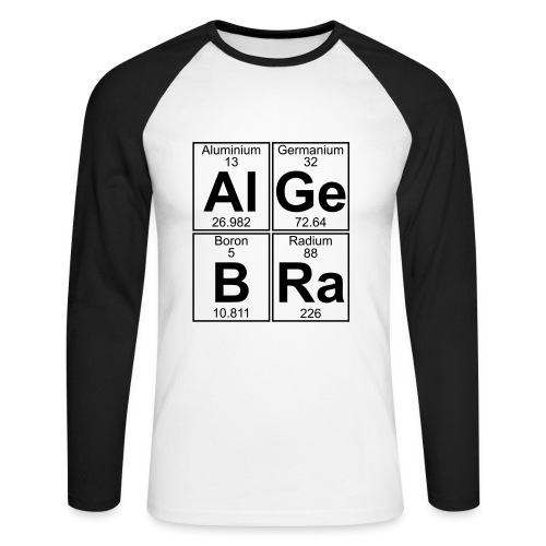 Al-Ge-B-Ra (algebra) - Men's Long Sleeve Baseball T-Shirt