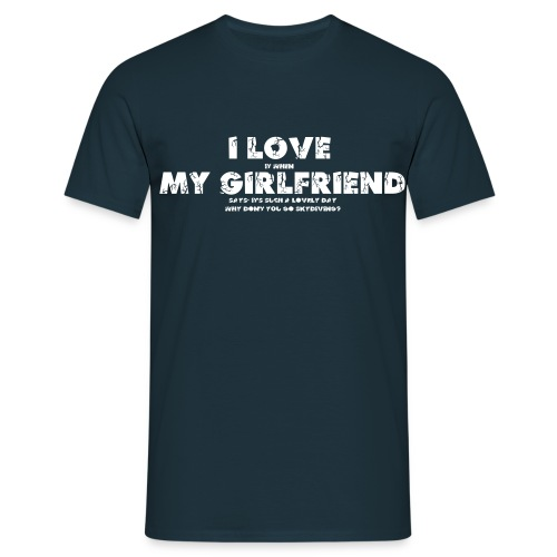 I love Skydiving - Männer T-Shirt