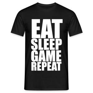 Eat Sleep Game Repeat Men's T-Shirt - Men's T-Shirt