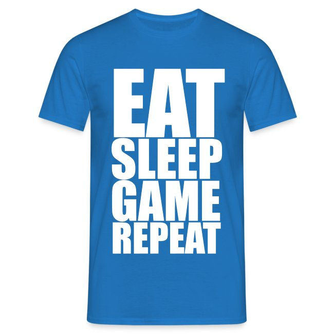 Eat Sleep Game Repeat Men's T-Shirt