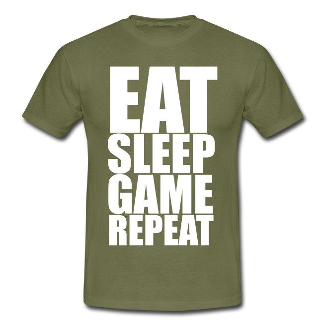 Eat Sleep Game Repeat Men's T-Shirt