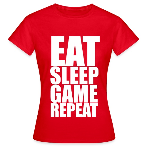 Eat Sleep Game Repeat Women's T-Shirt - Women's T-Shirt
