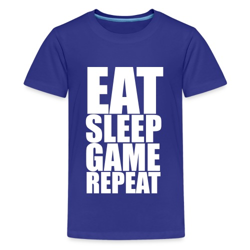 Eat Sleep Game Repeat Teenage T-Shirt - Teenage Premium T-Shirt