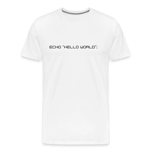 Hello World tee - Men's Premium T-Shirt