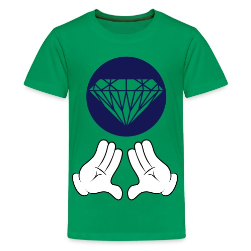 diamond micky hands t-shirt - Teenager Premium T-shirt
