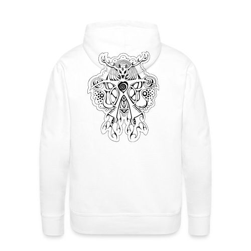 Hoody wit - Krachtdier Hert - Mannen Premium hoodie