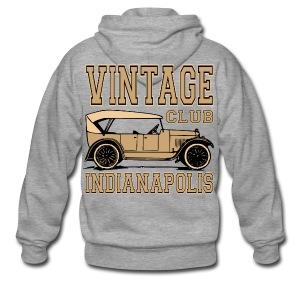 Vintage car club 02 - Men's Premium Hooded Jacket
