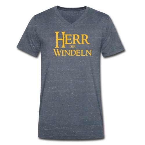 Herr der Windeln - Männer Bio-T-Shirt mit V-Ausschnitt von Stanley & Stella
