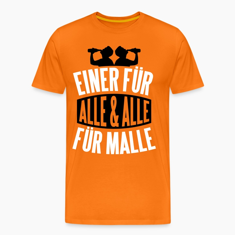 einer f r alle und alle f r malle t shirts m nner premium t shirt. Black Bedroom Furniture Sets. Home Design Ideas