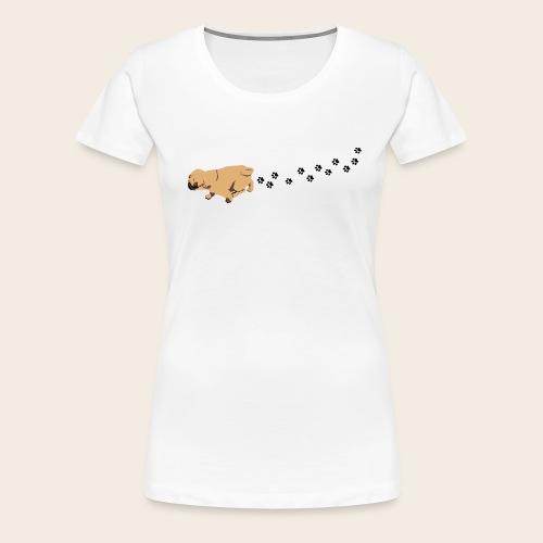 Mops läuft T-Shirt - Frauen Premium T-Shirt