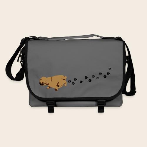 Mops läuft Tasche - Umhängetasche