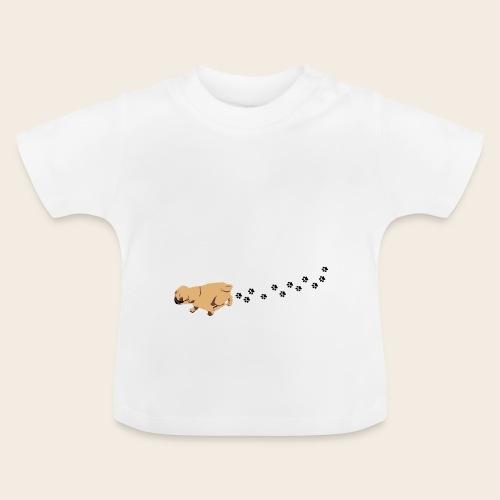 Mops läuft Baby-Shirt - Baby T-Shirt