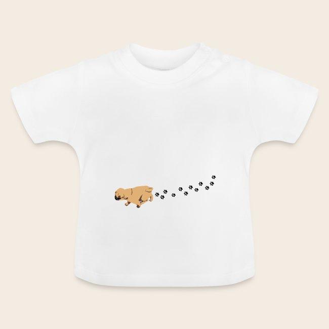 Mops läuft Baby-Shirt