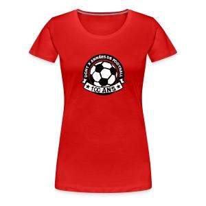 100 Ans x année de foot - T-shirt Premium Femme