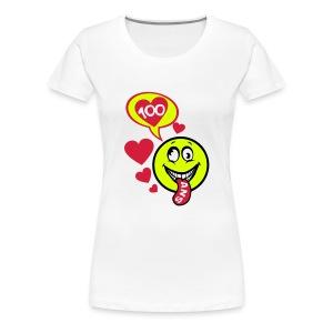 100 Ans smiley tire la langue - T-shirt Premium Femme