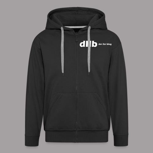 dIIb Zipper logo weisse Schrift  - Männer Premium Kapuzenjacke