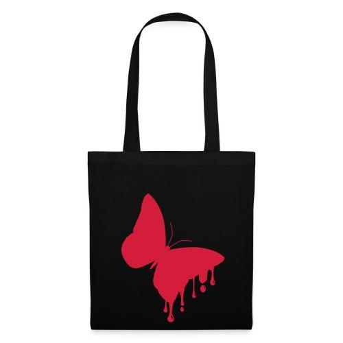 BUTTERFLY/DROPS BAG BLACK - Tas van stof