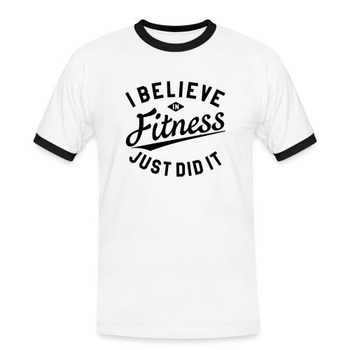 Männer-Tshirt - Männer Kontrast-T-Shirt