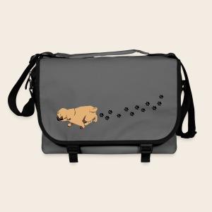 Mops läuft - Tasche - Umhängetasche