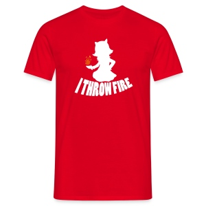 I Throw Fire Shirt red - Men's T-Shirt