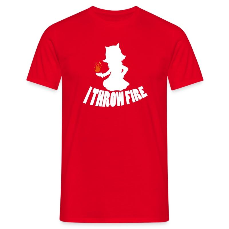 I Throw Fire Shirt red - Men's T-Shirt