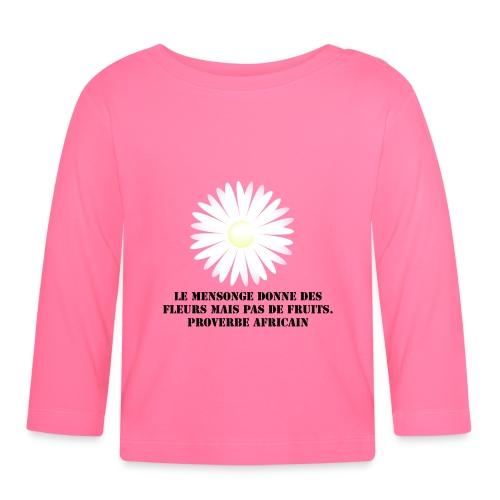 proverbe africain - T-shirt manches longues Bébé