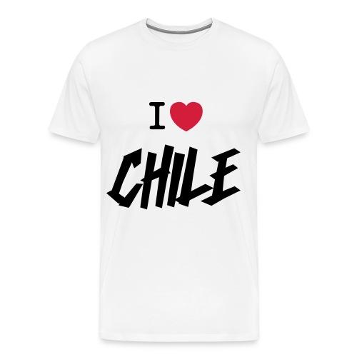 I Love Chile - Premium-T-shirt herr