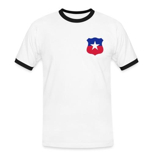 Chile Retro '74 - Kontrast-T-shirt herr