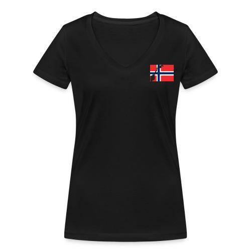 Norske nasjonalsangen - Frauen Bio-T-Shirt mit V-Ausschnitt von Stanley & Stella