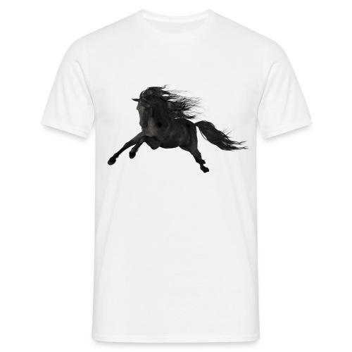 Schwarzer Hengst - Männer T-Shirt