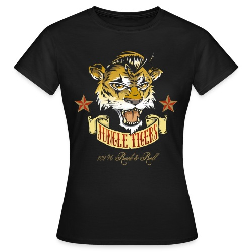 old jungle tiger girl - Women's T-Shirt